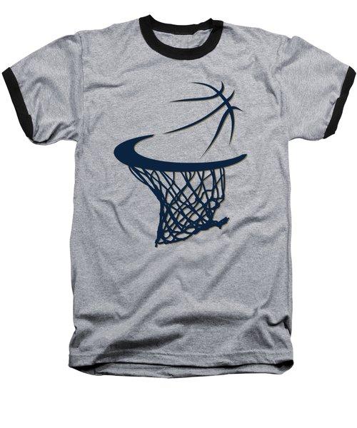 Pelicans Basketball Hoop Baseball T-Shirt by Joe Hamilton