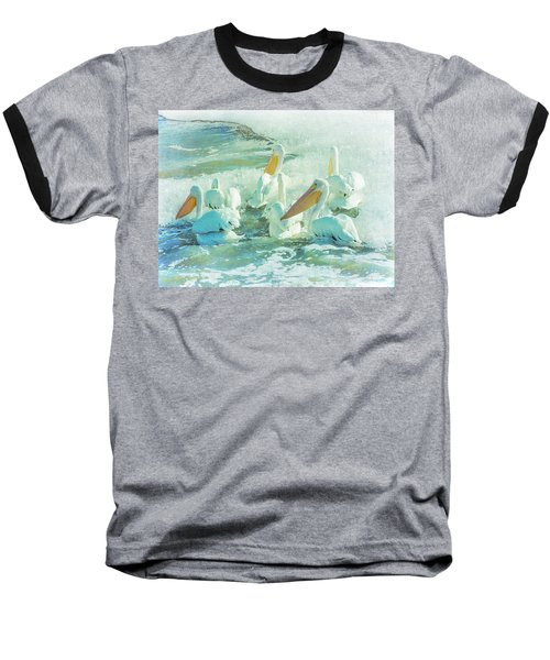 Pelicans On The Tide Baseball T-Shirt