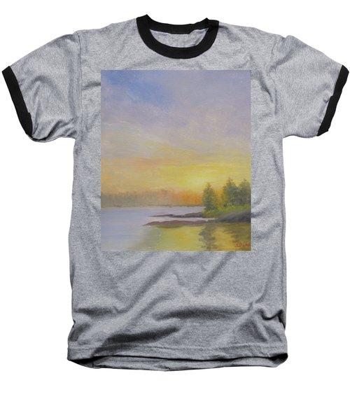 Pemaquid Beach Sunset Baseball T-Shirt