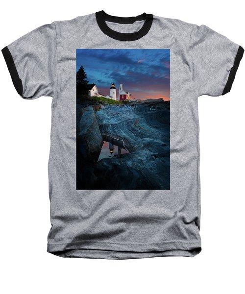Pemaquid Lighthouse At Dawn Baseball T-Shirt