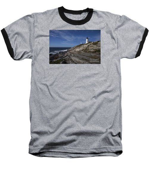 Pemaquid Lightouse Baseball T-Shirt