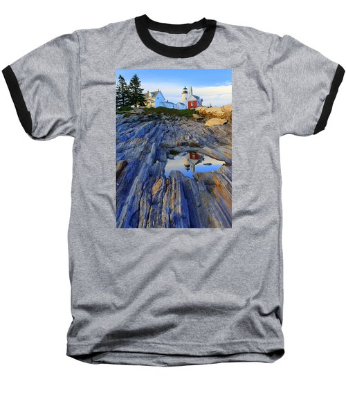 Pemaquid Point Light Reflections Baseball T-Shirt