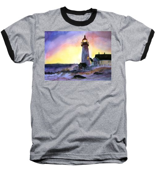 Pemaquid Point Lighthouse Maine Baseball T-Shirt