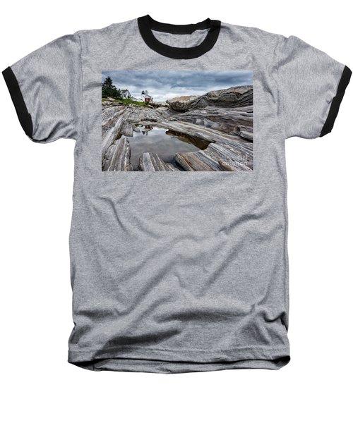 Pemaquid Point Lighthouse Baseball T-Shirt