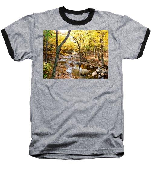 Pemigwasett River At The Flume Baseball T-Shirt by Catherine Gagne