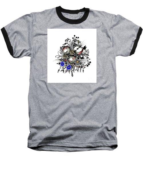 Pen And Ink Drawing Apples Wall Decor  Baseball T-Shirt by Saribelle Rodriguez