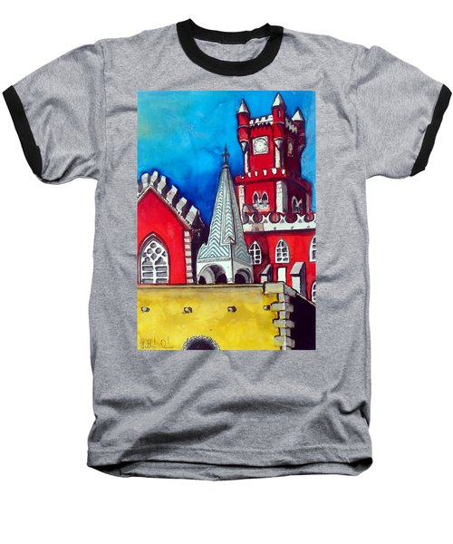Pena Palace In Portugal Baseball T-Shirt by Dora Hathazi Mendes