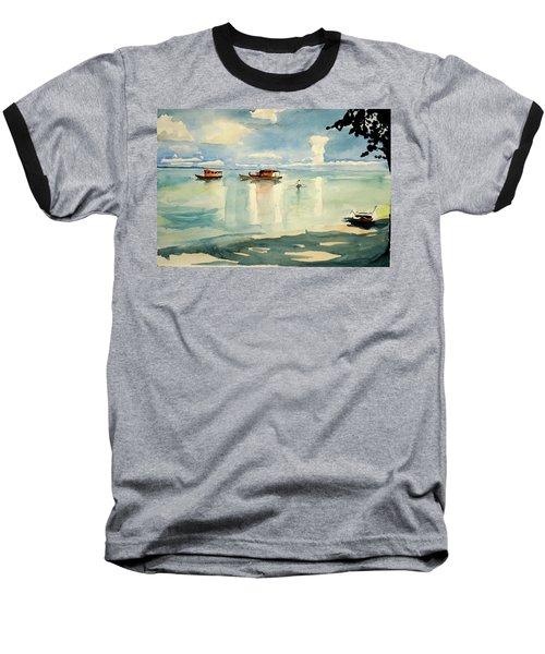 Penang Beach Baseball T-Shirt by Tom Simmons