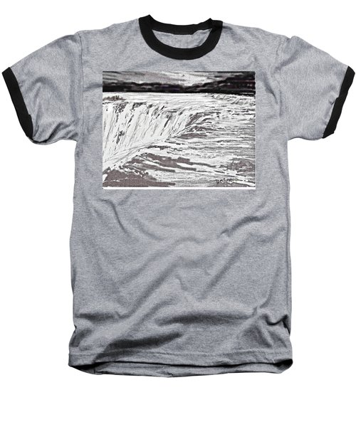 Baseball T-Shirt featuring the drawing Pencil Falls by Desline Vitto