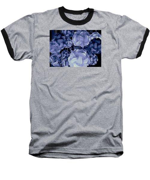 Pendants In Purple Baseball T-Shirt by Ranjini Kandasamy