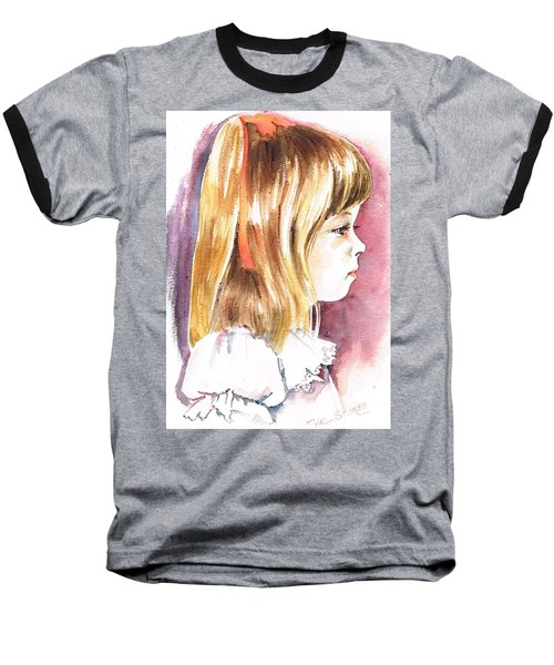 Baseball T-Shirt featuring the painting Penelope by Val Stokes