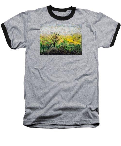 Peneplain Baseball T-Shirt by Ron Richard Baviello