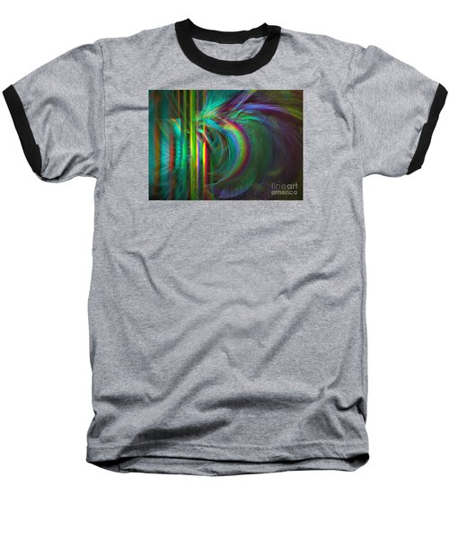 Baseball T-Shirt featuring the digital art Penetrated By Life - Abstract Art by Sipo Liimatainen
