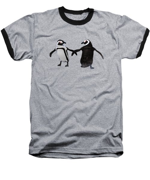 Penguin Dance Baseball T-Shirt by Methune Hively