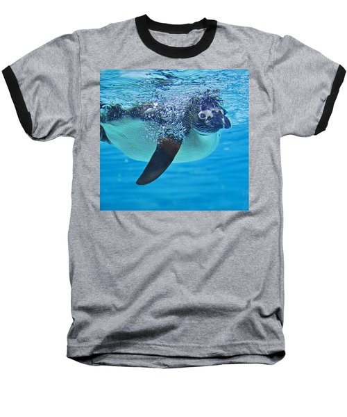 Penguin Dive Baseball T-Shirt