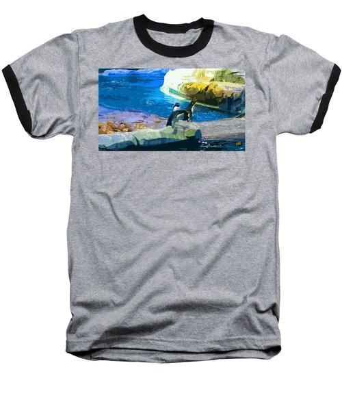 Penguins At The Zoo Baseball T-Shirt