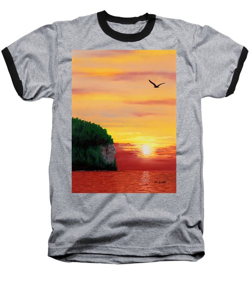 Peninsula Park Sunset Baseball T-Shirt