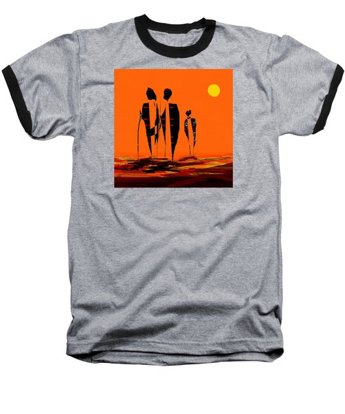 Baseball T-Shirt featuring the painting Penman Origiinal-295-long Walk Home by Andrew Penman