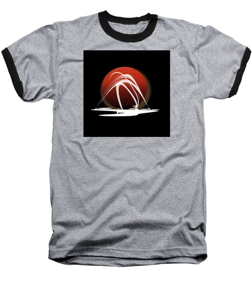 Baseball T-Shirt featuring the painting Penman Original-303 by Andrew Penman