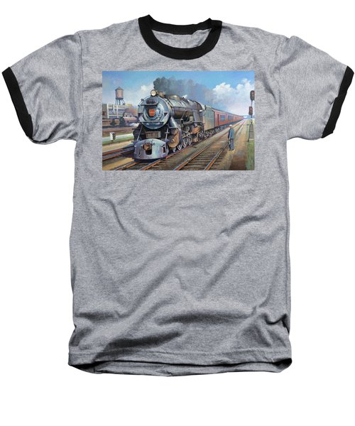 Penn Central Pacific. Baseball T-Shirt by Mike Jeffries