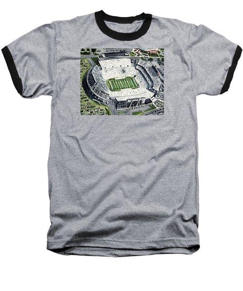 Penn State Beaver Stadium Whiteout Game University Psu Nittany Lions Joe Paterno Baseball T-Shirt by Laura Row