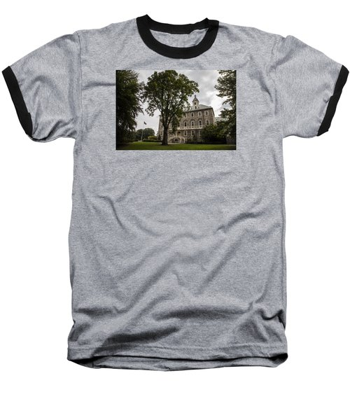 Penn State Old Main And Tree Baseball T-Shirt by John McGraw
