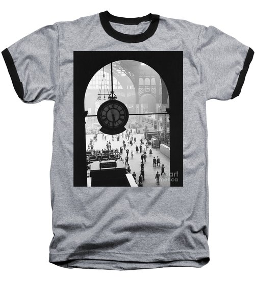 Penn Station Clock Baseball T-Shirt