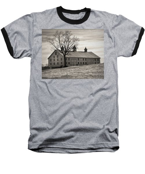 Baseball T-Shirt featuring the digital art Pennsylvania Barn by Robert Geary
