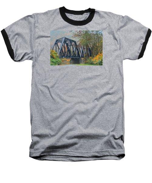 Pennsylvania Bridge Baseball T-Shirt by Cindy Manero