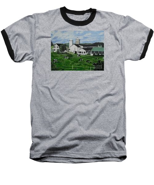 Pennsylvania Holstein Dairy Farm  Baseball T-Shirt