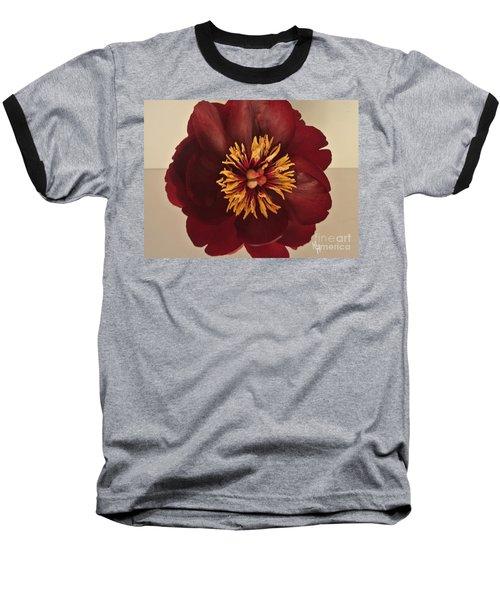 Penny Peony Baseball T-Shirt by Marsha Heiken