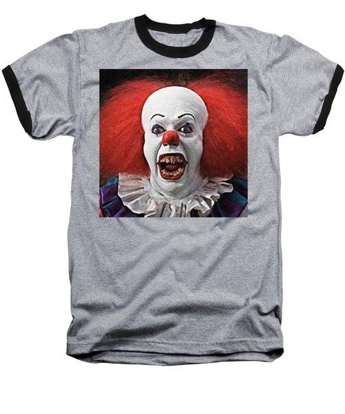 Pennywise The Clown Baseball T-Shirt by Taylan Apukovska