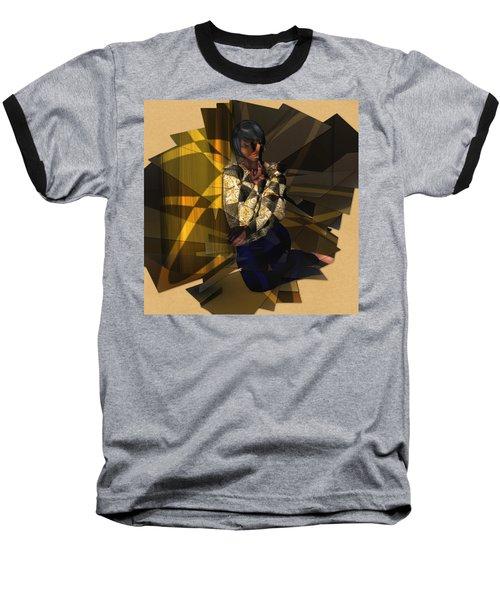 Pensive Woman Baseball T-Shirt