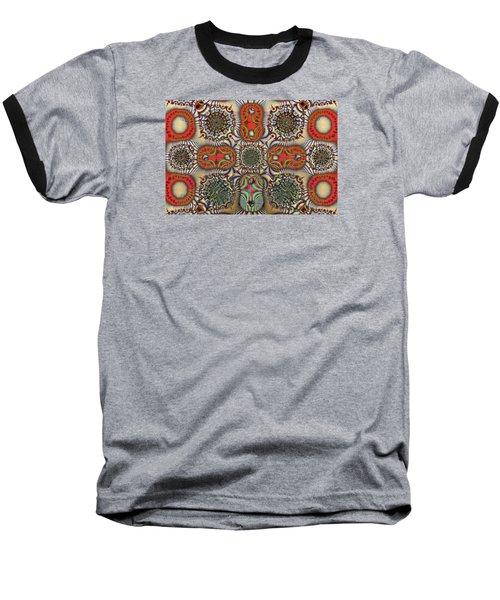 Pent-up-agram Baseball T-Shirt by Jim Pavelle