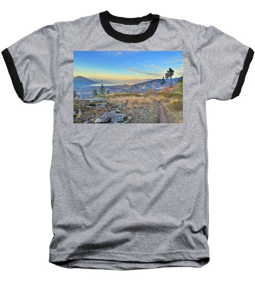 Baseball T-Shirt featuring the photograph Penticton In The Distance by Tara Turner