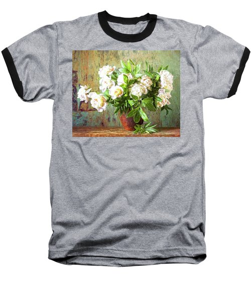 Peonies In A Vase Baseball T-Shirt