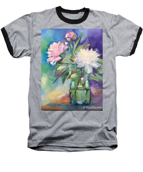 Peonies In Jar Baseball T-Shirt