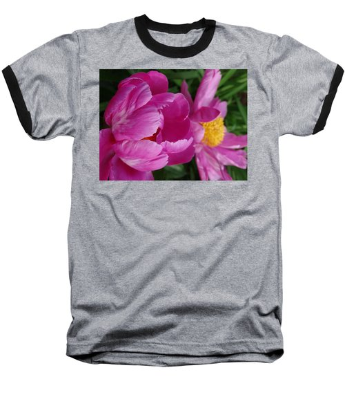 Peonies In Pink Baseball T-Shirt by Rebecca Overton