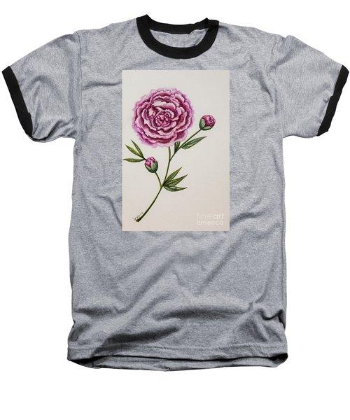 Peony Botanical Baseball T-Shirt