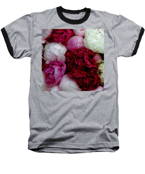 Peony Bouquet Baseball T-Shirt by Lainie Wrightson