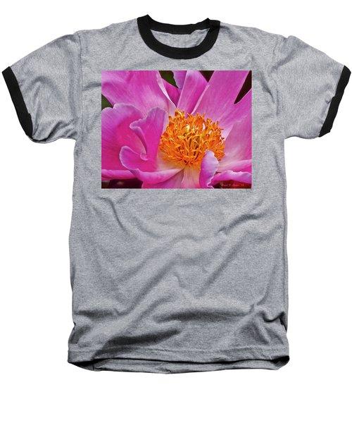 Pink Flower Peony Garden Wall Art Baseball T-Shirt