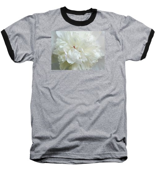 Peony In White Baseball T-Shirt