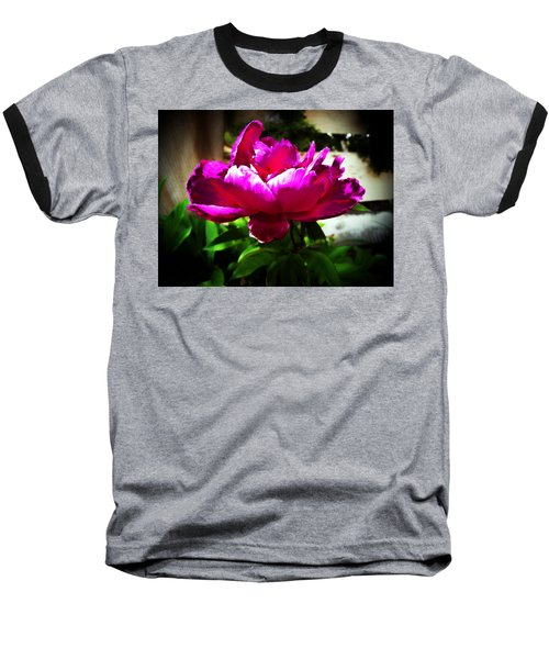 Baseball T-Shirt featuring the photograph Peony by Joseph Frank Baraba