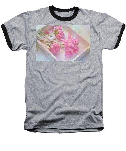 Peonies In White Box Baseball T-Shirt