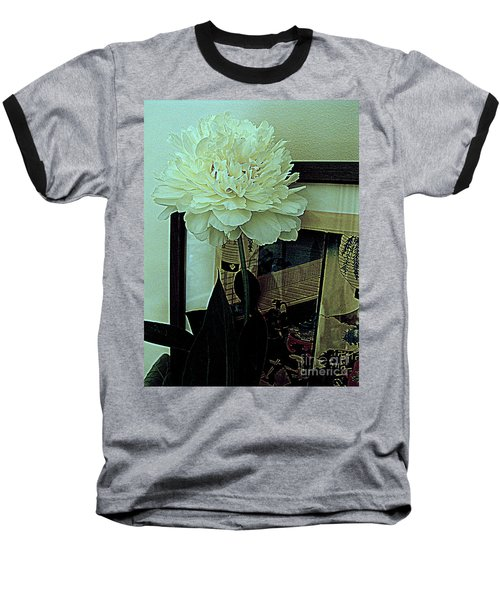 Baseball T-Shirt featuring the photograph Peony Pose by Nancy Kane Chapman