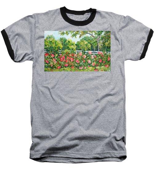 Peony Riot Baseball T-Shirt