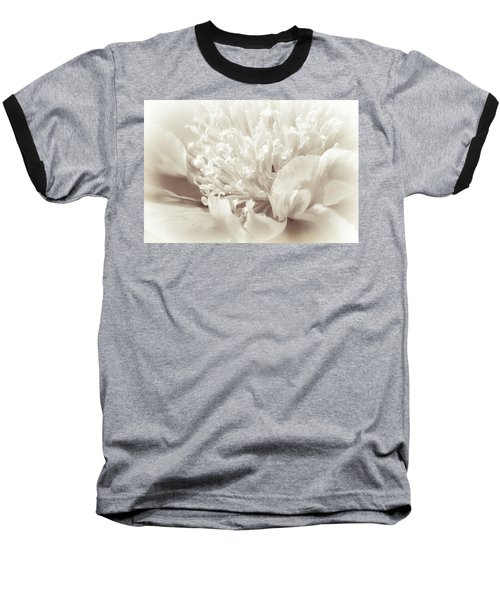 Peony 5 Baseball T-Shirt by Bonnie Bruno