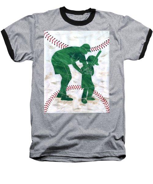 People At Work - The Little League Coach Baseball T-Shirt by Lori Kingston
