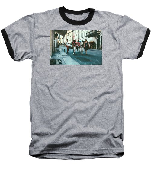 People Baseball T-Shirt by Cesare Bargiggia
