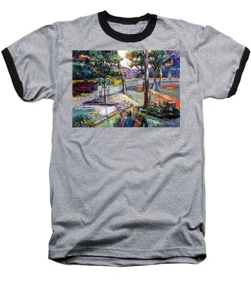 People In Landscape Baseball T-Shirt